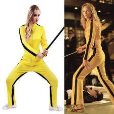 Kill Bill Movie Costume Ninja Ladies Martial Arts Uma Thurman Fancy Dress Outfit