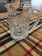 """Marquis By Waterford Crystal Lismore Cut Water Pitcher 32 Oz. & 7"""" Clear EUC"""
