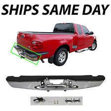 NEW Chrome - Steel Rear Bumper Replacement for 1997-2004 Ford F150 Pickup 97-04