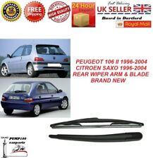 Rear Wiper Arm /& Blade Peugeot 106 Hatchback Mk2 P R S T V W X Y 51 02 52 03 53
