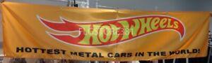 Hot Wheels Banner 2x8Ft Mattel Toys Garage Collectors Flag Wall Decor Man Cave