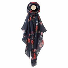 Joules Navy Floral Wensley Scarf