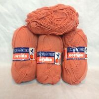 Lot of 4 Vintage Balls Pingouin Corrida Cotton Blend Yarn From France