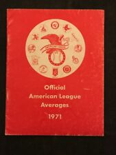 1971 MLB BASEBALL AMERICAN LEAGUE AVERAGES RED BOOK MANCAVE