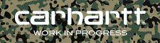 Big Carhartt WIP Streetwear Sticker Logo Camouflage Schwarz Grün Beige 24x6,5cm