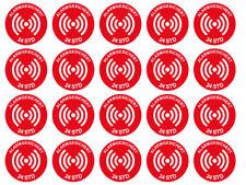 1 x Aufkleber 20 Stück Alargesichert 24 Std Sicherheit Security Sticker Rund Rot
