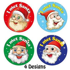 144 x I MET SANTA Stickers Childrens Christmas Grotto Sticky Reward Labels