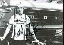 GERHALD SCHONBACHER 1979 team DAF Lejeune Trucks Signed Autographe cycling Signé