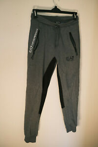 MENS GREY ARMANI JOGGING BOTTOMS JOGGERS TRACKSUIT TROUSERS SIZE SMALL