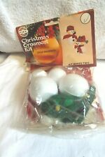 Vintage Holiday Industries Christmas Ornament Kit # 3479 Jolly Snowman