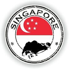 Singapur Sello Sello Pegatina para Coche Camión Portátil Tablet Nevera Puerta