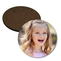 Personalised Photo Text Rounded Coaster