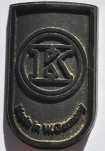 1950s West Germany Old K Plastic Bicycle Front View Tag Sign