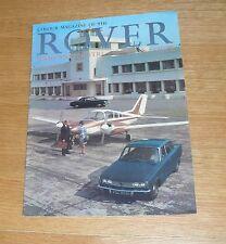 Rover Brochure 1966 - 2000 & 2000 TC - 3.0 Litre Mk3 Saloon Mk2 Saloon & Coupe