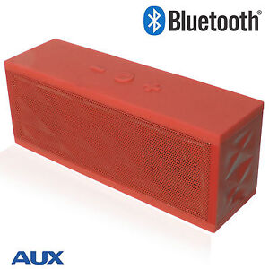 Wireless Bluetooth Portable Subwoofer Speaker For Samsung / iPhone / - Red