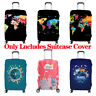 Elastic Thicken Trolley World MapTravel Suitcase Protector Luggage Case Cover US