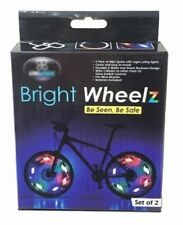 Bicycle Bike Wheel Rim Clip Warning LED Reflector Lights Water Resistant 2 pcs