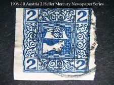 AUSTRIA -  Newpaper Mercury 2 Heller Blue stamp from 1908 -1910