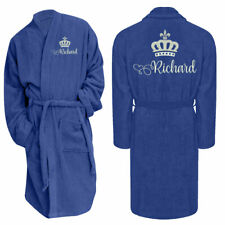 Personalised Bath Robe Embroidered Name Mens Robe Dressing Gown Perfect Gift