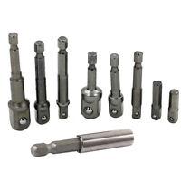4pcs / Set Douille Adaptateur Tige Hexagonale 0.6cm 1cm 1.3cm Perceuse Pilote
