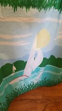 """6 Vtg Sailboat Nautical Curtain Panels 25""""x 62"""" modified JCPenney Fashion Manor"""