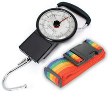 Mechanical Luggage Fishing Scale Measure Plus a Luggage Strap 75 lbs/34 kg