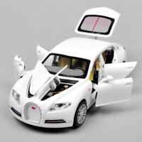 1:32Scale Bugatti Veyron 16C Galibier Alloy Diecast White Car Toy  W/Light&Sound