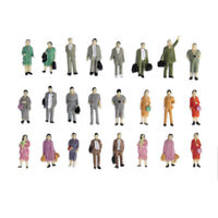 24pcs 1:87 HO Guage Train Railroad Mix Standing People Passengers Figures Model