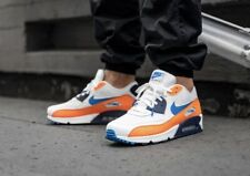NIKE AIR MAX 90 ESSENTIAL (WHITE / BLUE / TOTAL ORANGE) AJ1285-104  UK8,EUR42,5