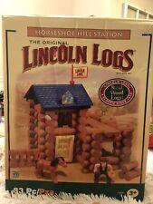 Lincoln Logs Horseshoe Hill Station 83 Piece Set Plus Extras