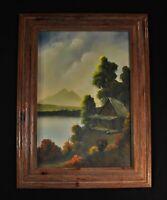 """VTG Arkansas Artist Foster Handford 28"""" x 21"""" Mountains Lake Landscape"""