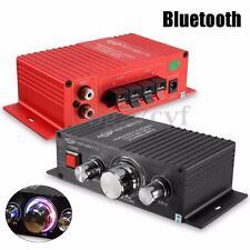 Mini 15W*2 CH Car HIFI Stereo Audio Power Amplifier AMP Bass Bluetooth MP3 12V