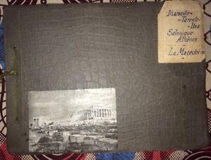 SALONIQUE.ATHÈNES.MACÉDOINE.ALBUM DE 120 PHOTOS VERS 1917.