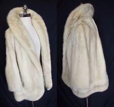 Fabulous Vintage TOURMALINE Pastel Platinum Blonde Mink Fur Jacket Coat Wedding