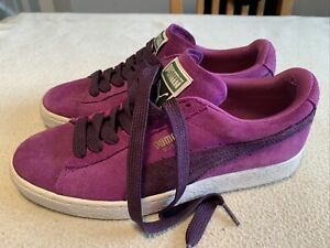 Women's Puma Suede Purple Fashion Trainers Size Uk 6