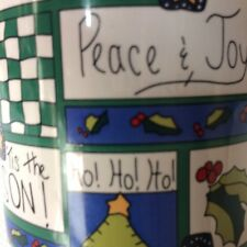 Longs Drug Stores Christmas Coffee Tea Mug Cup Tis The Season Peace & Joy