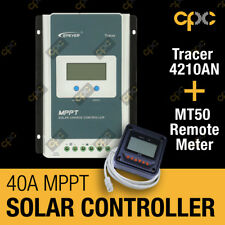 EPever 4210AN Tracer 40A MPPT Solar Charge Controller Regulator MT50 Meter 4210A