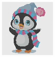 Penguin Ready for Winter Cross Stitch Kit by Florashell