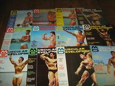 Lot Of 12 Muscular Development Bodybuilding Magazines/1965 COMPLETE YEAR
