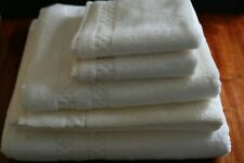 FRETTE CHECKERBOARD TOWEL SET IVORY NEW 6 PIECE SET