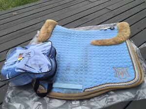 Mattes Pale Blue And Nouguat S/s Euro Dressage Large With Bandages
