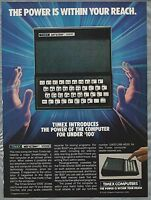 1983 TIMEX SINCLAIR advertisement, early computer ad, Timex-Sinclair 1000