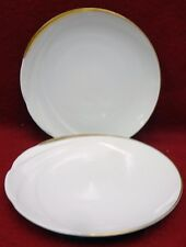 """HUTSCHENREUTHER china MONDIAL pattern Bread Plate - Set of Two (2) - 6-1/4"""""""