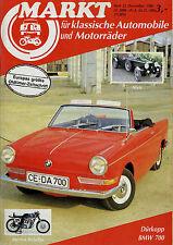 Markt 12/86 1986 Alvis BMW 700 Dürkopp Fahrräder Morini Rebello Ford Mustang I