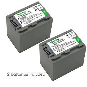 2x Kastar Battery for Sony NP-FP90 FP91 DCR-HC46 DCR-HC65 DCR-HC85 DCR-HC94