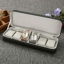 Wrist Watch Case Display Storage Box Mens Luxury Black Solid Composite Material
