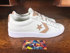 Converse Pro Leather 76 Ox Mens Low Top Off White/Tan 155668C Sz 9.5 w Lunarlon