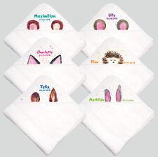 Baby Kapuzenhandtuch Kapuzentuch Handtuch Babybadetuch bedruckt mit Namen Decke