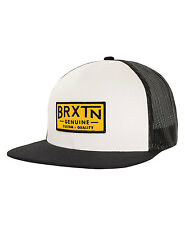 Brixton Dunning Mesh Cap Trucker Hat White/Black