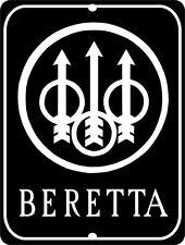 """BERETTA Firearms Pistol Gun Aluminum 9"""" x 12"""" Sign"""